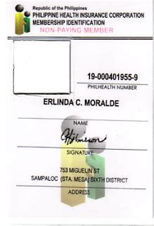 Id Card Template Word 2010 by Ecp Excellent Care Provider Sle Philhealth Number