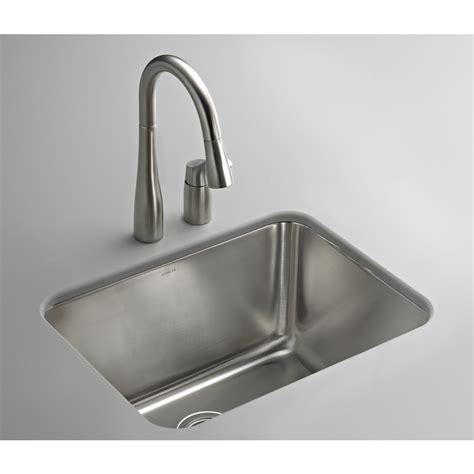 stainless steel utility sink shop kohler stainless steel laundry sink at lowes com