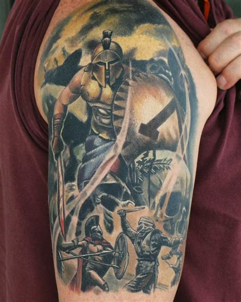 warrior sleeve tattoo designs warrior tattoos askideas