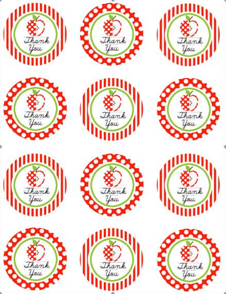 printable favor tags avery items similar to teacher avery 2 quot labels stickers thank