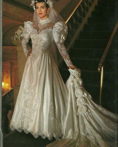Vintage Satin Wedding Dresses by 170 Best Images About 1980 S Wedding Dresses On