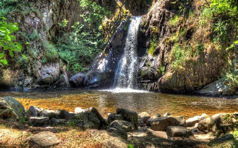 wonderful waterfall hdr hd desktop background