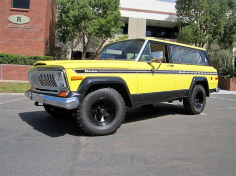 jeep cherokee yellow seller of classic cars 1977 jeep cherokee yellow tan