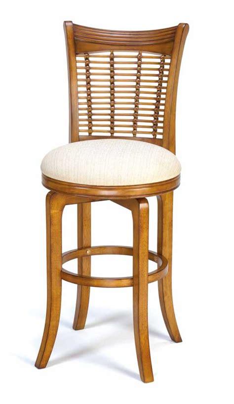 hillsdale bayberry wicker swivel wood bar stool oak 4766