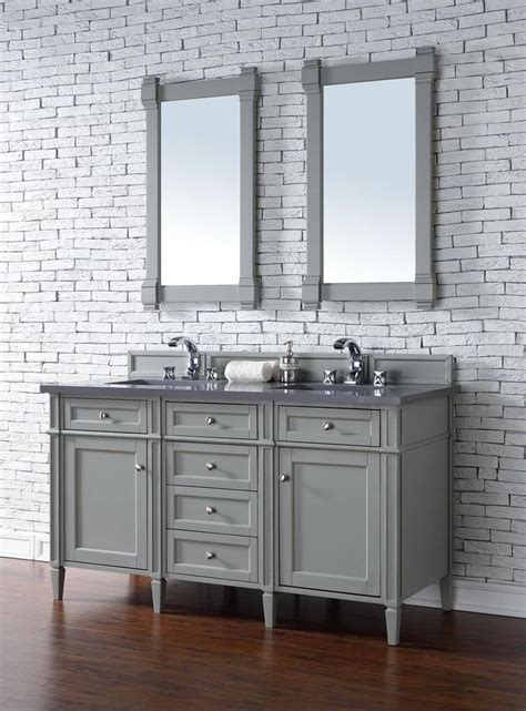 vanity cabinet with sink and faucet contemporary 60 inch double sink bathroom vanity gray