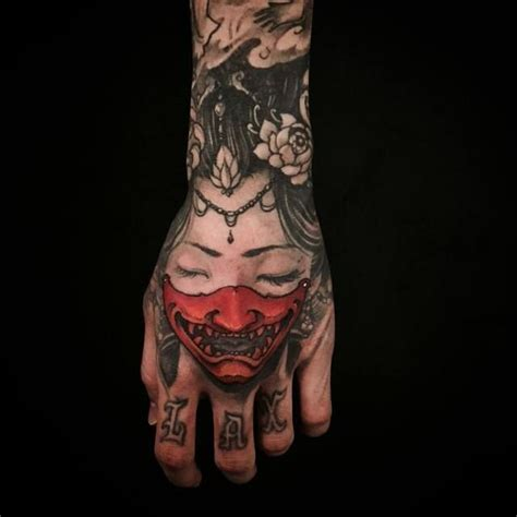 japanese hand tattoo designs best 25 hannya mask ideas on oni