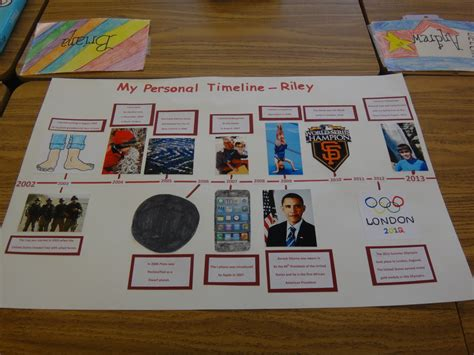 biography ideas for 6th graders my personal timeline