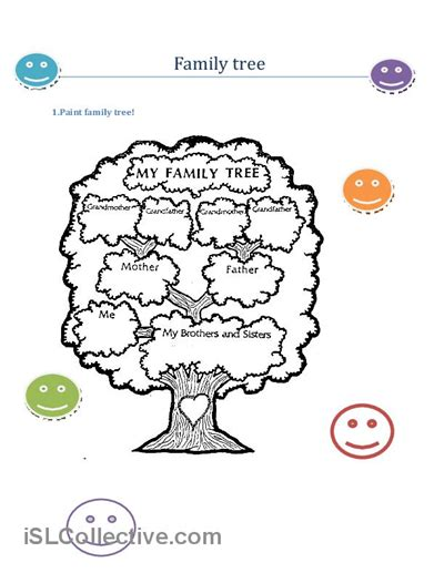 family tree template for kindergarten printable family tree for preschool printable pages