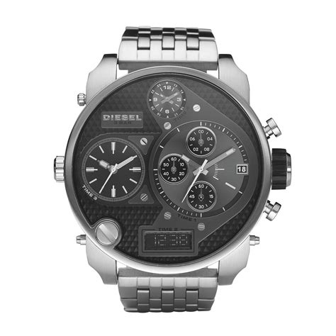 Diesel Leather Kotak Black Silver diesel box shop for cheap s watches and save