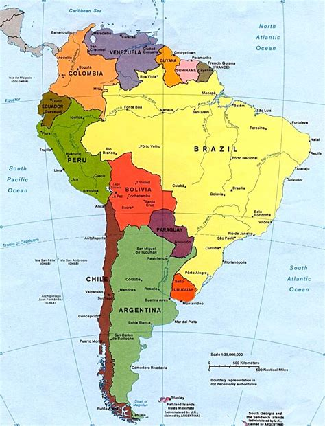 south america map with states and capitals map of south america with capitals
