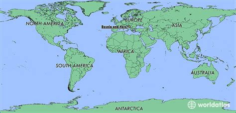 where is bosnia on a world map where is bosnia and herzegovina where is bosnia and