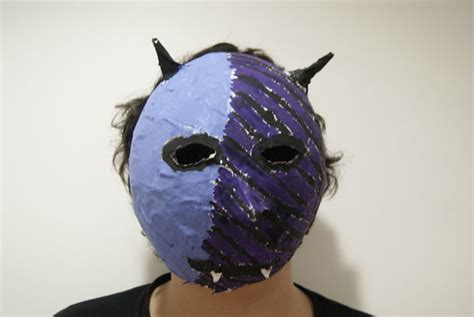 How To Make Paper Mache Monsters - diy costume masks