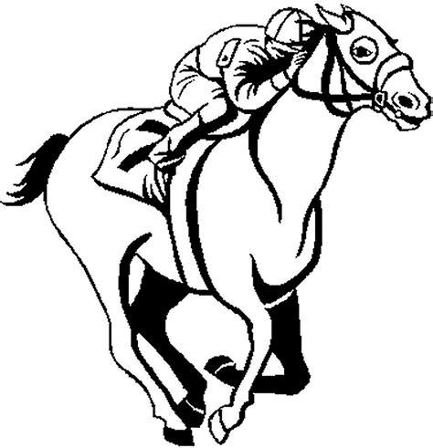 coloring pages of race horses racing clip free cliparts co