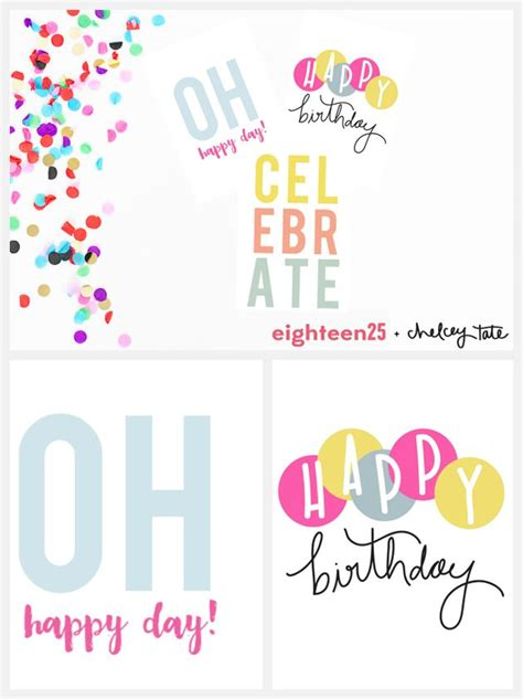 search results for happy birthday card printable