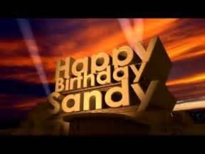 happy birthday sandy youtube
