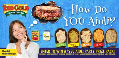 How To Do Sweepstakes On Facebook - red gold how do you aioli sweepstakes