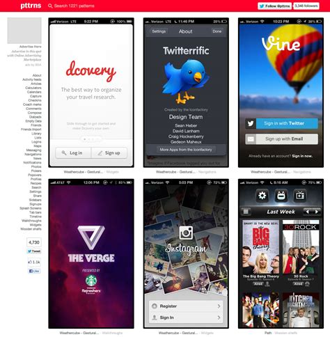 design pattern app collection of mobile design patterns for app ideas psd