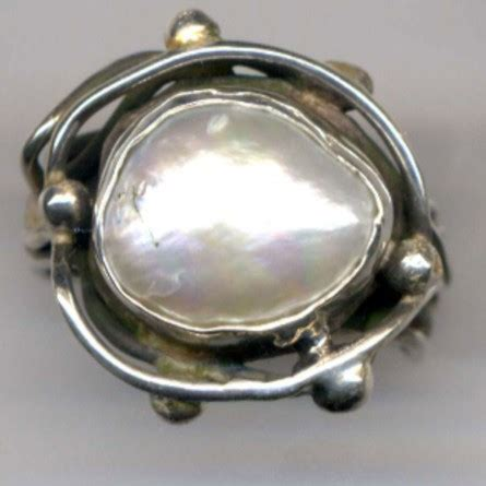 Handcrafted Jewellery Melbourne - pearl ring 187 handcrafted jewellery melbourne barbara gambin