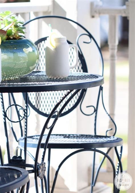 Navy Blue Patio Furniture with Feeling Blue Inspired By Charm Beautiful Transformation Of White Patio Set To A Navy Blue