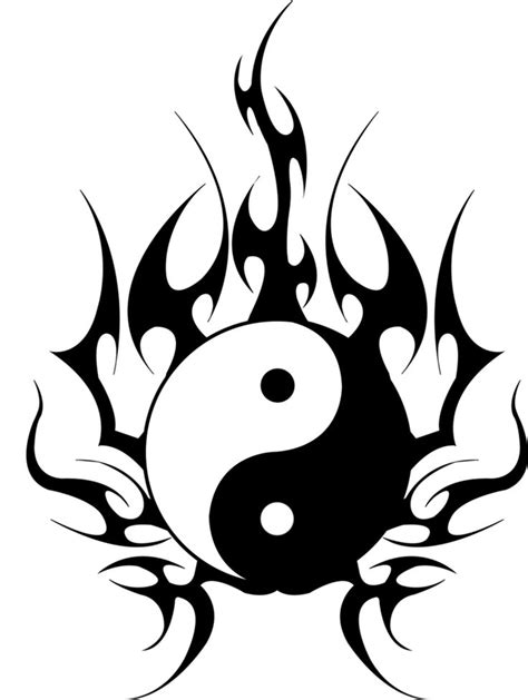 yin and yang tribal tattoos tribal yin yang yin yang tribal design by