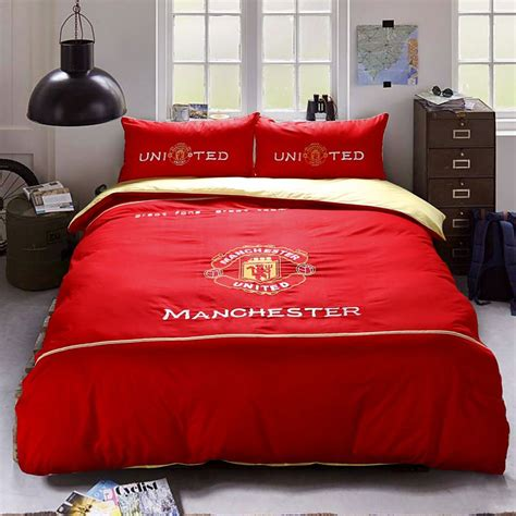 manchester united f c bedding set twin queen size