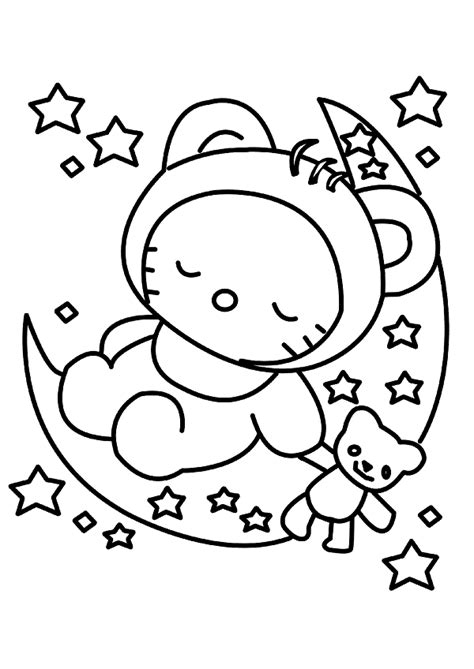 coloring pages sleeping baby baby sleep hello kitty coloring pages stuff to buy