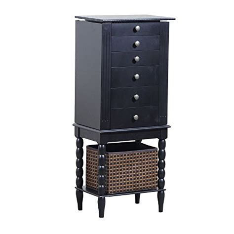 solid wood jewelry armoire sale black solid wood quot alanis quot jewelry armoire with bottom