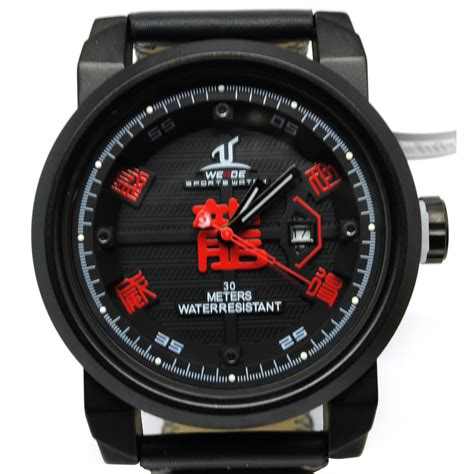 Jam Tangan Pria Weide Leather Jam Tangan Kulit Wa Berkualitas 1 weide jam tangan analog kulit uv1509