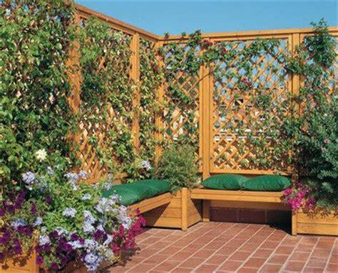 lade da giardino da terra aumentar la privacidad en la terraza