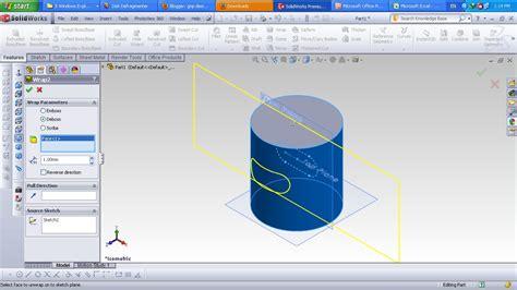 solidworks tutorial wrap gnp design solidworks tutorial wrap feature