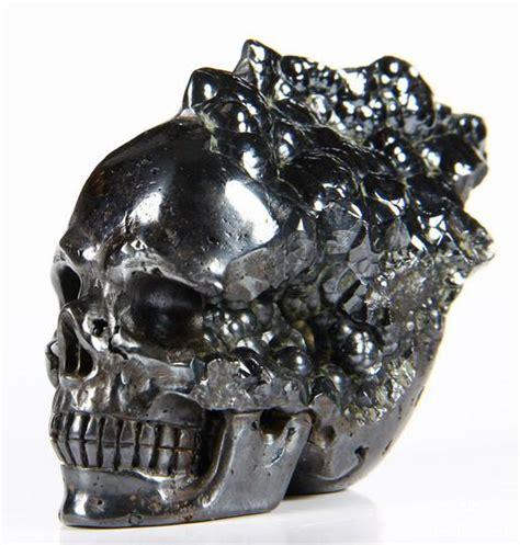 unique 3 0 quot hematite carved skull skullis