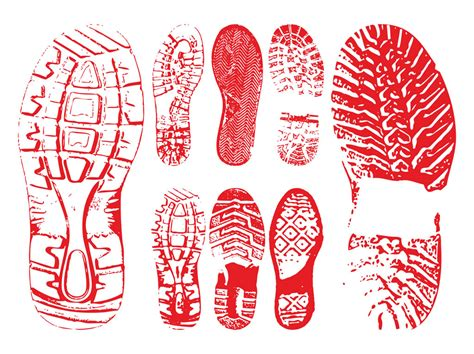 running shoe print vector shoe prints graphics