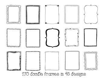 frames borders doodle frames mega bundle  frames