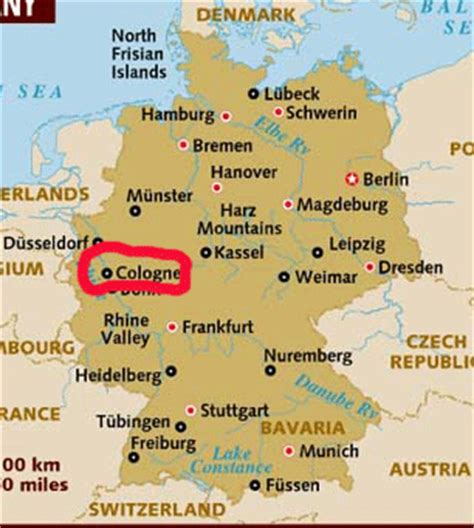 map of koln germany cologne germany map my