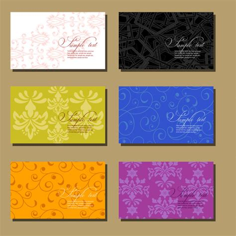 Floral Business Card Templates Collection Free Vector In Adobe Illustrator Ai Ai Vector Flower Business Card Template
