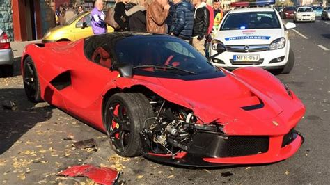 laferrari crash laferrari crashes in budapest w