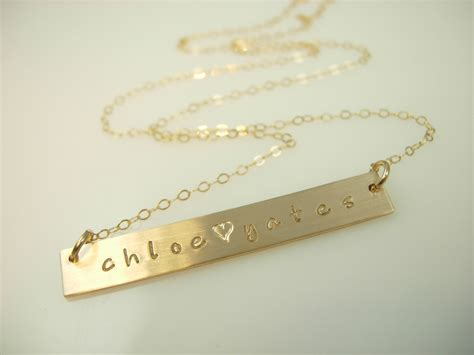 gold bar necklace necklace by
