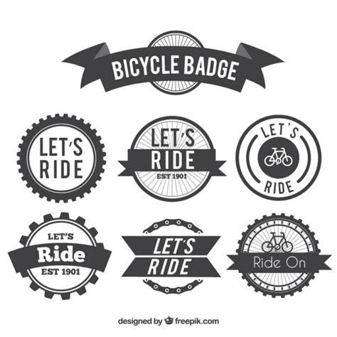 Fahrrad Aufkleber Gratis by Set Retro Fahrrad Embleme Der Kostenlosen Vektor