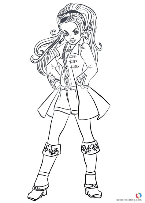 coloring pages of descendants coloring pages for descendants new wicked world cj hook