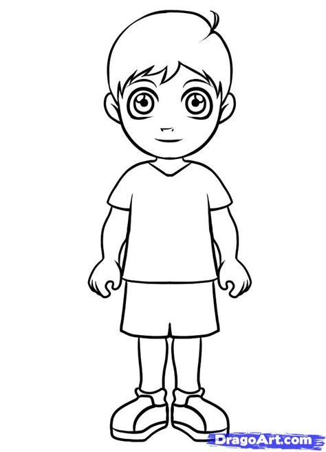 how to draw a boy how to draw a simple boy step by step figures