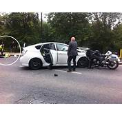 Prince Harrys Police Motorbike Outrider Crashes Head On