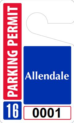 parking tag template custom parking tag designs 5 x 3