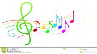 colorful notes colorful musical notes on stave royalty free stock photos