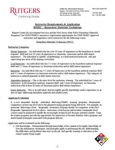 Hazardous Materials Specialist Sle Resume by Nj State Hazardous Materials Response Unit Center For Government Services