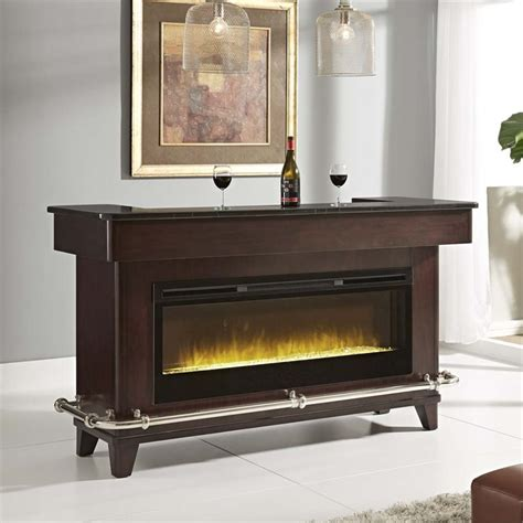 Pulaski Evo Fireplace Home Bar in Brown   675920 21 KIT