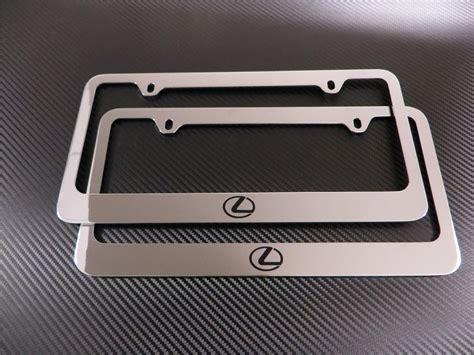 lexus license plate frame 2 brand new lexus logo chromed metal license plate frame