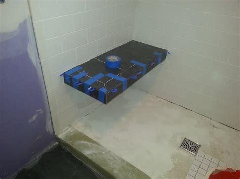 floating shower bench tiling contractor talk