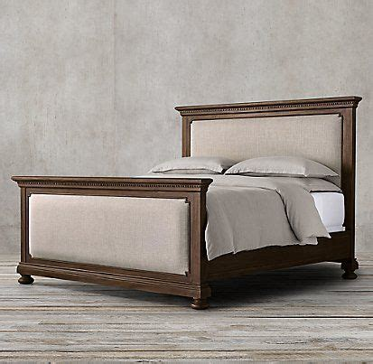 restoration hardware st james bed st james upholstered bed collection antiqued coffee