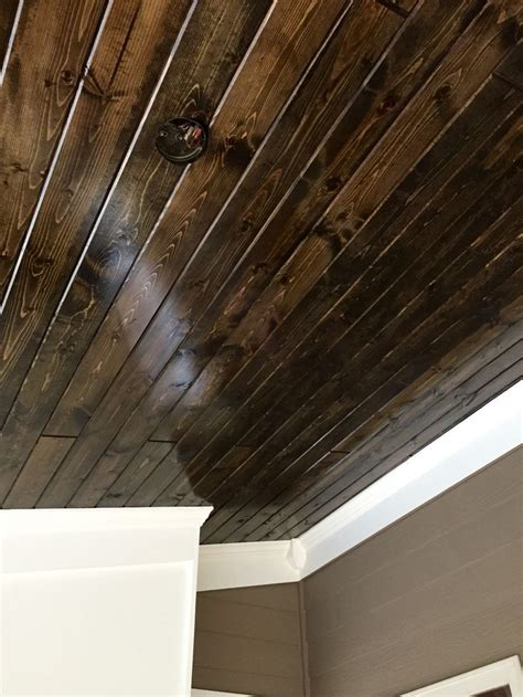 Stained Tongue And Groove Ceiling by 25 Best Ideas About Minwax Walnut On