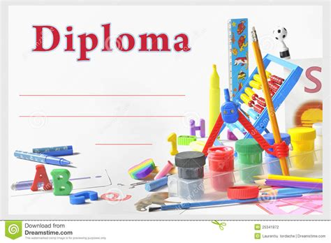 free printable graduation certificate templates preschool diploma stock photography image 25341872